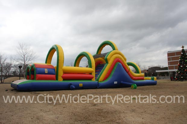 Obstacle Course Inflatable Houston Rental Katy Woodlands